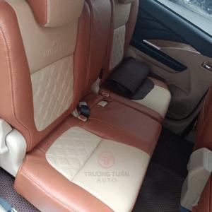 Bộ áo ghế da xe ô tô cao cấp màu nâu đất pha trắng 032