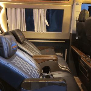 Bộ ghế da ô tô cao cấp màu xám đen đẹp không tì vết 040