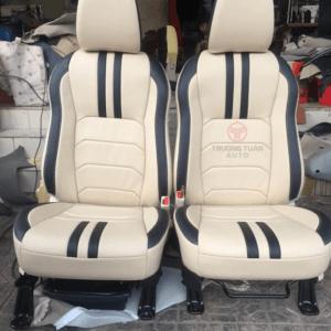 Bộ áo ghế ô tô 129a màu kem kết hợp nét đen