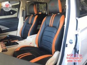 Bộ áo ghế da cao cấp xe Xpander màu đen phối cam 21